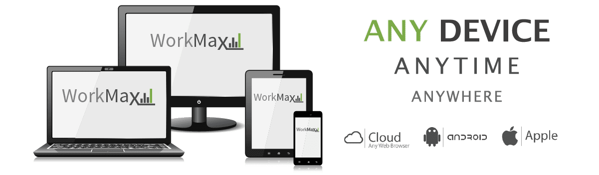 WorkMax resource management, employee time tracking, track assets and equipment, electronic forms, field service management, field reporting