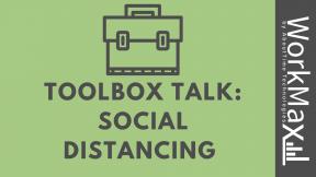 ToolBox Talk Social Distancing
